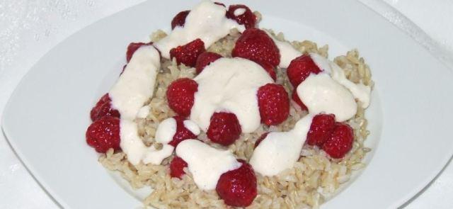 Ryż z odżywką i owocami