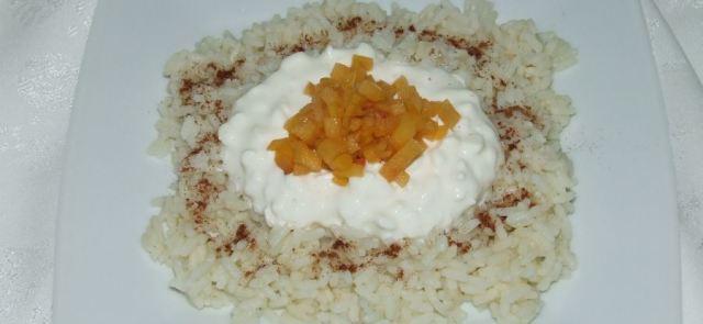 Ryż z twarogiem i migdałami